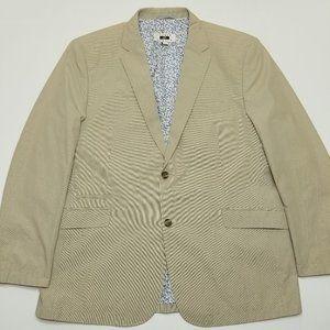 Joseph Abbound Cotton Sport Coat - Beige Striped -